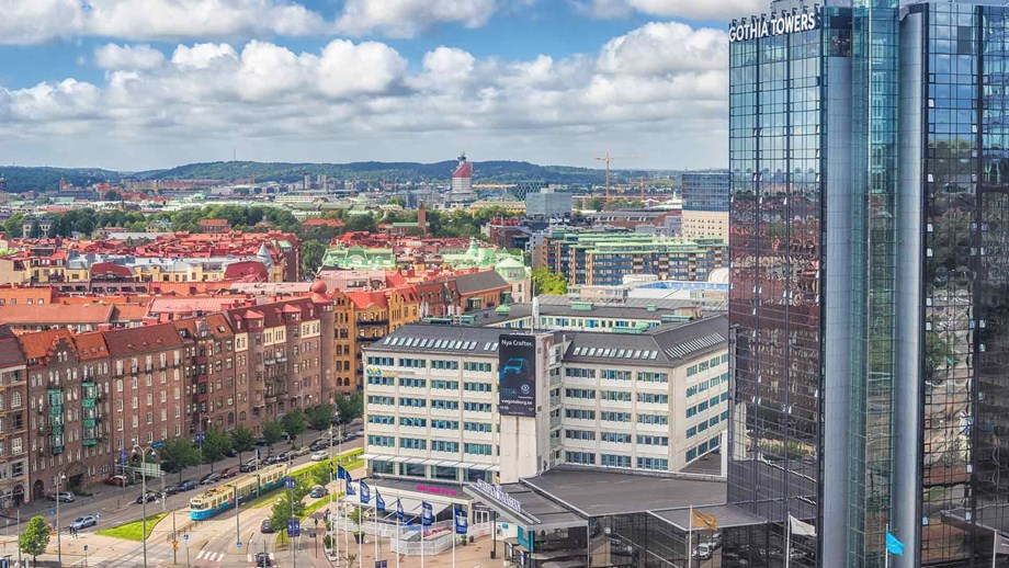 view from Gothia towers,Mässansgata Gothenburg